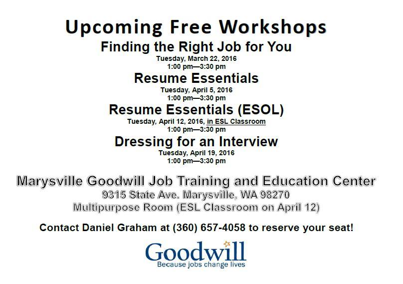 Goodwill Job Training