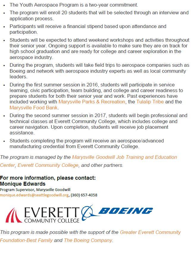 Marysville Youth Aerospace Program 2