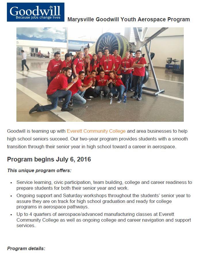 Marysville Youth Aerospace Program