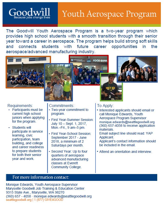 Youth Aerospace Program Flyer Page 1